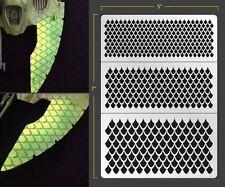 Dragon Scales Airbrush Stencil 2 Texture Patern Schablonen Maskierung Gestaltung