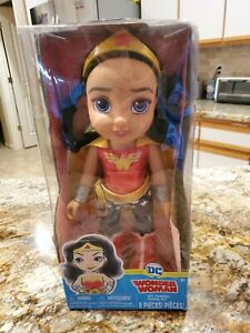 "DC Toddler Dolls - 15"" Wonder Woman Toddler Doll, Includes: 8 Pieces"