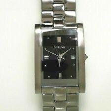 Bulova Quartz Stainless Steel Square Dress Watch 96B59 A0