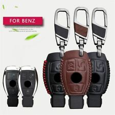 Genuine Leather Uomo Auto Key Borsa Custodia Cover Key Holder catena per MERCEDES BENZ