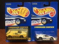 Hot Wheels Blue Card Lamborghini Countach #60 Lot Of 2 EMX3979
