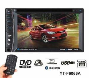 AUTORADIO 2 DIN MONITOR  CD DVD STEREO TOUCHSCREEN BLUETOOTH USB SD- NO GPS-tv