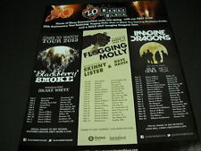 BLACKBERRY SMOKE Flogging Molly and IMAGINE DRAGONS 2013 Promo Display Ad