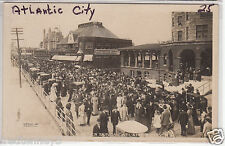 RPPC - Atlantic City - Easter Sunday on Pier at Lawrence Pharmacy - early 1900s