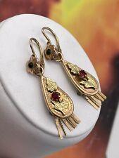 ORECCHINI originali earrings antiques vintage ANTICHI GOLD ORO 6/7KT primi 900