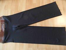 Jean Paul Gaultier elegante Jersey Pantaloni con pelle federale taglia L top sj116