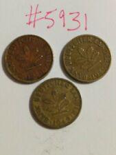 🇩🇪 1949 Bank Of German States (W Germany) 5 Pfennig Coins 🇩🇪