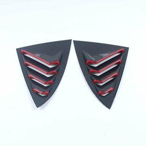 For Tesla Model 3 Accessories Carbon Fiber Matte Rear Window Shutter Cover Trim