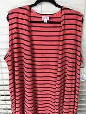 LuLaRoe NWT Joy XL Knit Stripe Black Pink