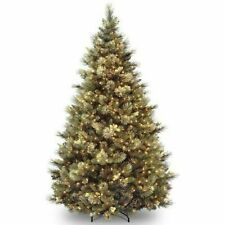 National Tree 7.5 Hinged Carolina Pine Tree with 86 Flocked Cones and 750 Clear Lights (CAP330675)