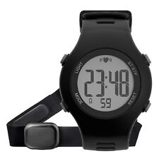 Running Cycling Sport Heart Rate Monitor Waterproof Watch Alarm With Chest Strap
