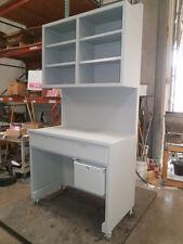 "Custom Gray Design Storage/Workbench Unit Furniture 47 1/2"" x27 1/2 ""X95"" Wheels"