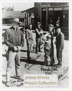 James Arness Gunsmoke Marshal Dillon  60's Cast Group 8 x 10 Photo #08302021B