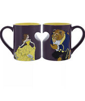 Disney Parks Beauty and The Beast Ceramic Coffee Mug Set New with Box
