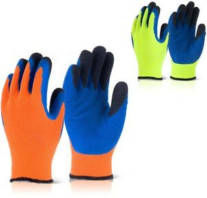 B-Flex BF3 Thermo-Star Latex Palm Coated Thermal Cold Winter Warm Grip Gloves