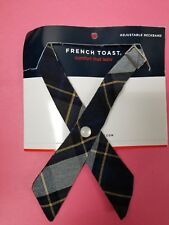 French Toast Girls Adjustable Cross Ties - BLUE GOLD PLAID