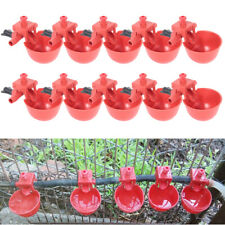 10Pcs Bird Quail Hen Plastic Chicken Poultry Drinker Automatic Water Feeder Cups