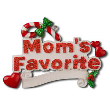 Family Mom's Favorite Personalized Christmas Tree Ornament