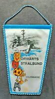 Orig. Wimpel ASV Vorwärts Stralsund DDR Oberliga Fussball NVA Volksmarine Armee