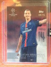 2015-16 Topps UEFA Champions League Showcase red #2 zlatan ibrahimovic 08/25