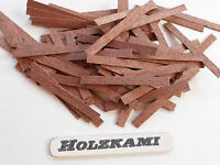 100 Holzleisten Mahagoni 50mm x 1mm  bis  5mm x 0,6mm  L/B/H  Neu
