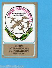 MUNCHEN/MONACO '72-PANINI-Figurina/Stemma n.39- PENTATHLON MODERNO  -Rec