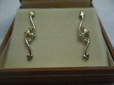Clogau Sterling Silver & 9ct Rose Gold Tree of Life Ivy Leaf Earrings