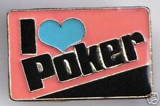 I Love Poker Casino Enamel Metal Lapel Pin Badge - New