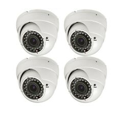 4pcs 1800TVL 2.8-12mm Varifocal 36IR LEDs CCTV Surveillance Security Camera