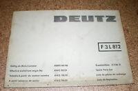 Ersatzteilliste / Teile-Katalog Deutz Schlepper F 3 L 812 / Z 1136-2