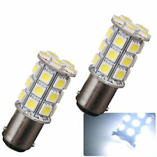 5x Pure White BA15S 27SMD 5050 LED Light bulbs For Car RV Boat Marine 1076