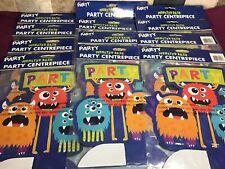 12 X Monster Bash Party Centre Piece Table Decorations