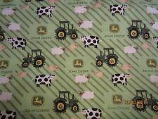 John Deere  baby toddler sheets set  tractors & animals flannel fields