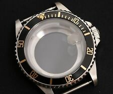 NEW Stainless steel watch case polished generic submariner black Gold eta