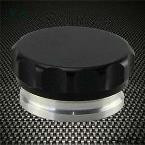 """2"""" 50.8mm Weld On Filler Neck And Cap Oil Fuel Water Tank Black Aluminum Alloy"""
