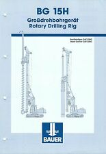 Equipment Brochure - Bauer - BG 15H  - Rotary Drilling Rig CAT 325C Base(E3432)