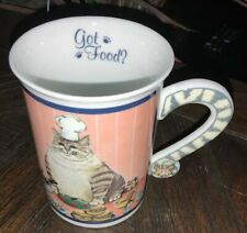"Comical Cats Coffee Mug Gary Patterson ""Got Food� Danbury Mint Collectible Cup"