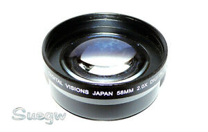 58mm Digital Visions 2.0X Telephoto Conversion Lens