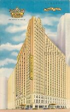 New York City~New Hotel Victoria~Radio City~51st @ 7th Ave~1951 Linen Postcard