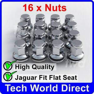 16x ALLOY WHEEL NUTS JAGUAR XF XF-R XE (M12X1.5) CHROME LUG BOLT STUD SET [16L]