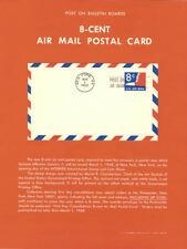 #UXC9 8c Eagle Air Postal Card Poster -Souvenir Page Flat w/FDC