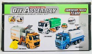 Sanitation Truck Series DIY Assembly Tool Set Truck Team GARBAGE TRUCK YW9083A