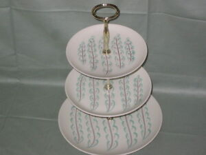 Poole Pottery Feather Drift 2 or 3-Tier Cake Plate Stand