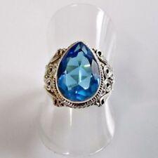Ringe mit Edelsteinen im Solitär Stil ovale echten Citrin