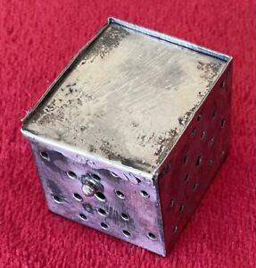 CHINESE SILVER CRICKET CAGE / BOX circa LATE 1800's
