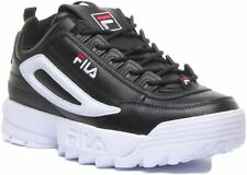 Fila Disruptor 2 Xl Lace Up Trainer Large Logo In Black White Size Uk 6 - 12