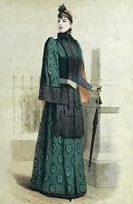Fashion Moda La francia elegante e Parigi elegante Insieme Gourbaud Litografia