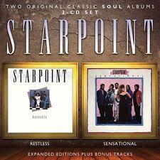 STARPOINT - RESTLESS + SENSATIONAL 2017 REMASTERED 2CD 1985/1987 ALBUMS + BONUS!