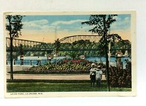 La Crosse Wisconsin Birds Levee Park Vintage Postcard
