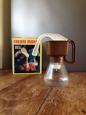 VINTAGE 1970'S BROWN BEL CREAM MAKER PLASTIC BASE RETRO EX CONDITION WITH BOX